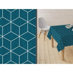 Mantel resinado Isometric azul